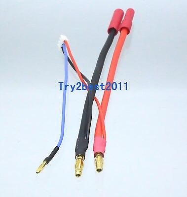 HXT 4 mm Plug Jack Harnais série Contrôle Radio 1F2M 10AWG Câble pour 2 Packs Batterie Adaptateur