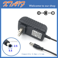 Free shipping NEW 1PCS AC/DC 9V 2A Switching Power Supply adapter Reverse Polarity Negative Inside US plug 5.5mm x 2.1mm 2.5mm