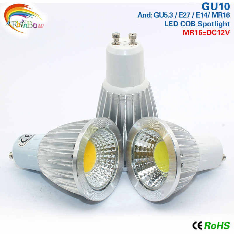 10pcs GU 10 COB led spotlight 9W 12W 15W led lights GU10 220V  110V dimmable Cob led bulb Warm White Cold White lampada led lamp