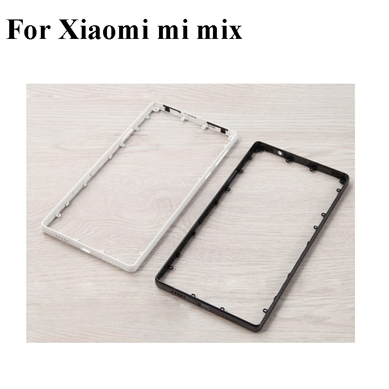 Black White Ceramics For Xiaomi Mi Mix Front Housing Chassis Plate LCD Display Bezel Faceplate Frame (No LCD) MiMIX Middle frameBlack White Ceramics For Xiaomi Mi Mix Front Housing Chassis Plate LCD Display Bezel Faceplate Frame (No LCD) MiMIX Middle frame