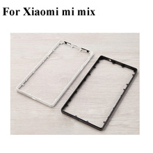 Black White Ceramics For Xiaomi Mi Mix Front Housing Chassis Plate LCD Display Bezel Faceplate Frame (No LCD) MiMIX Middle frame