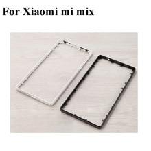 سيراميك أسود أبيض لشاومي Mi Mix لوحة هيكل اللوحة الأمامية شاشة LCD إطار الحافة (لا LCD) الإطار الأوسط ميميكس