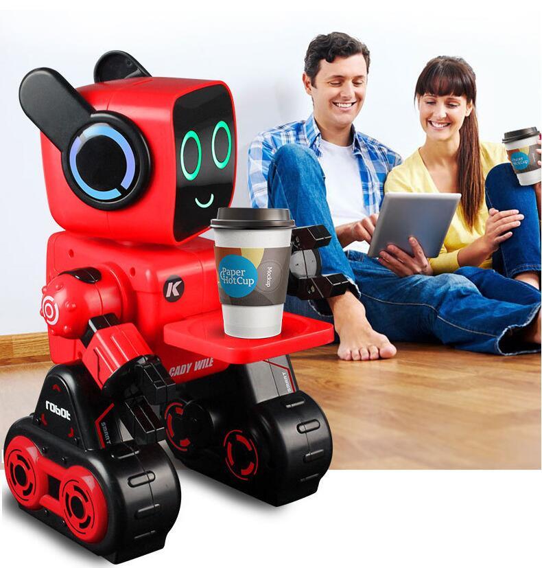 Nouveau style garçon et fille robot électrique Intelligent R4 pour enfants Intelligent Intelligent Programmable télécommande télécommande RC jouet Robot vs 18DOF