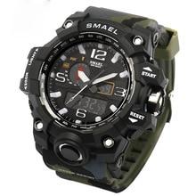 Sport Men Digital Watch Men Led Dual Display Shockproof Waterproof WristWatch