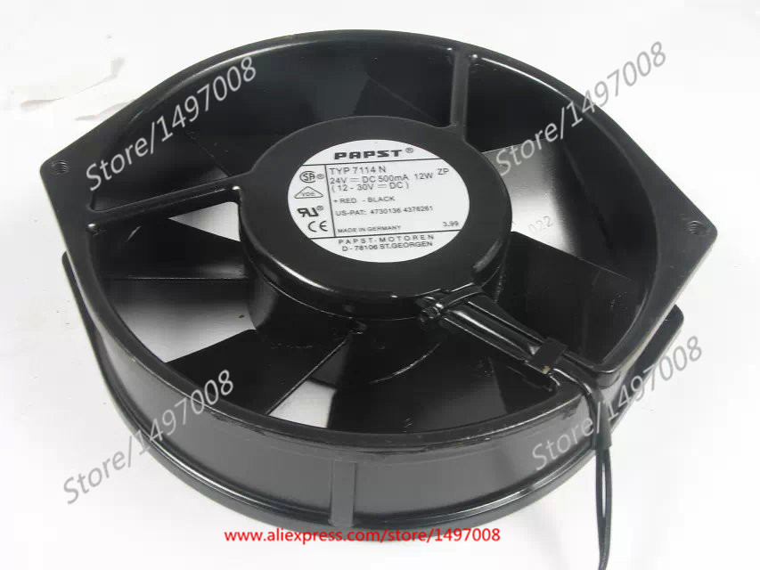 Papst TYP 7114N DC 24V 12W 160x160x38mm Server Round fan ebm papst 4800z 4800 z ac 115v 0 16a 0 14a 13w 12w 120x120x38mm server square fan