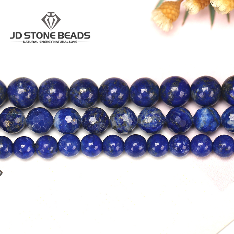 Natural Lapis Gemstone Faceted Blue Lapis Lazuli Size4-14mm High Quality DIY Hand Made DIY Necklace Accessory For Jewelry Making