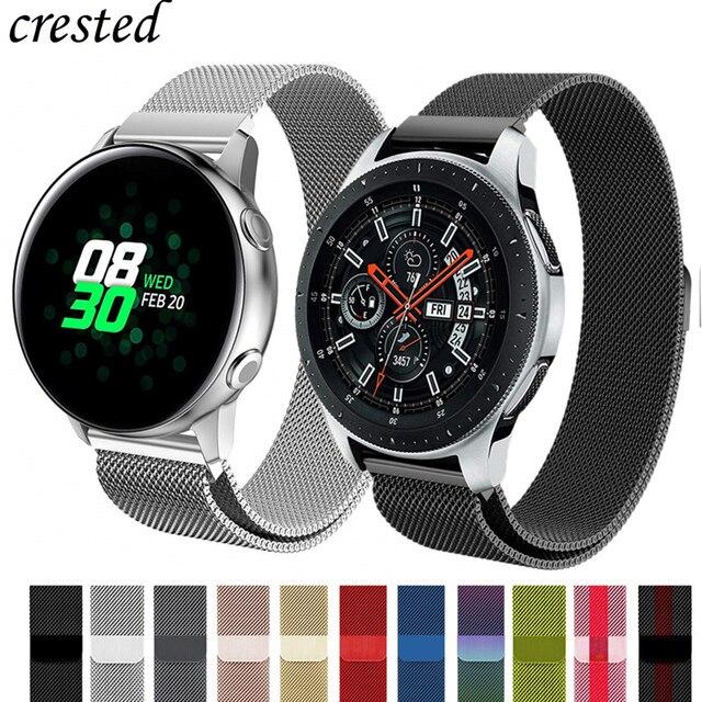 Correa Milanesa para Samsung Galaxy watch 46mm/42mm/Frontier S3 banda activa/S2/ reloj deportivo de acero inoxidable Huawei Correa GT 46