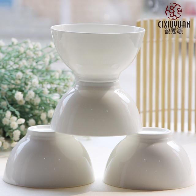 45 inch plain white bone china bowl rice noodles bowls japanese porcelain food - Modern Dinnerware