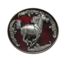 Women/Men/Girl/Boy horse red belt buckle metal animal designer Diy jeans/shorts/Dress/harem/pants/skirt cowboy belt buckles