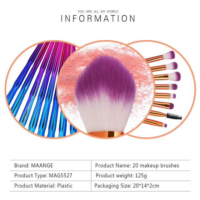 Wool Fiber Eyebrow Blush Brushes