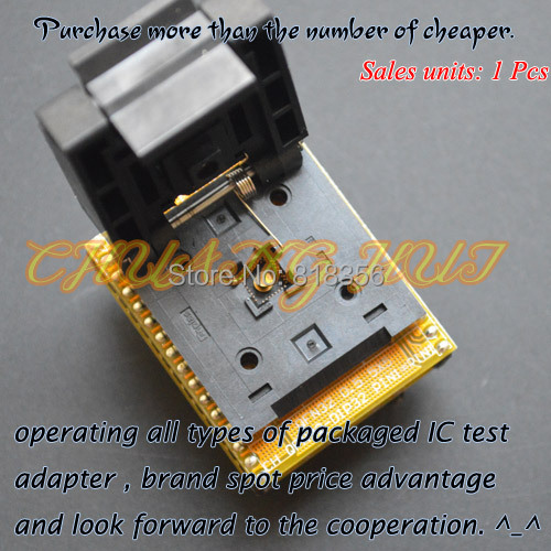 все цены на  TEST QFN32 to DIP32 Programmer Adapter WSON32 DFN32 MLF32 test socket  1pin-1pin Universal Adapter  онлайн