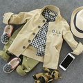 clear 2-6Y new 2015 high quality boys spring autumn trench coat 1pc kids clothing children handsome coat boys army coat