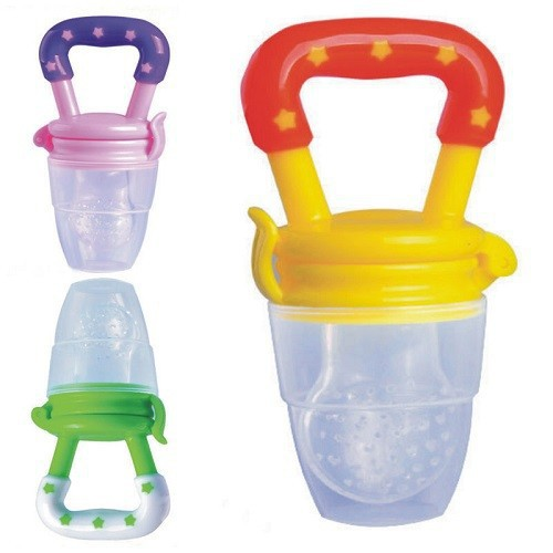 Baby Teether apmācības ierīces filtrs Mesh Silica Gel Bag Nipple Type Baby Food Supplement Tool