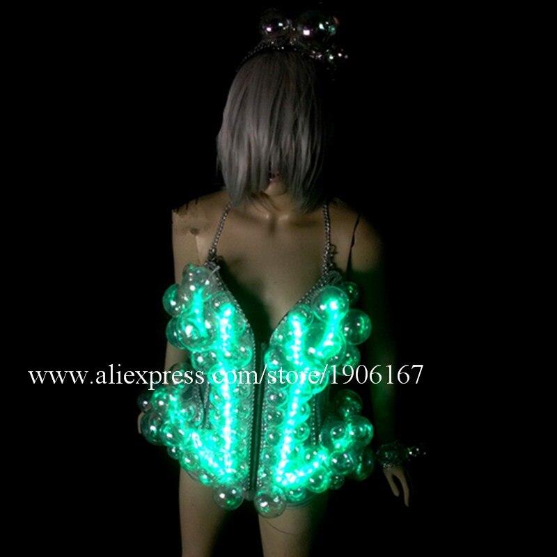 Neuer Entwurf führte Ballsaal-Frauen-Kostüm leuchtende reizvolle - Partyartikel und Dekoration - Foto 5