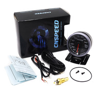 CNSPEED 60MM Car Water Temperature Gauges 50 150C With Sensor Water Temp Sensor With White Amber