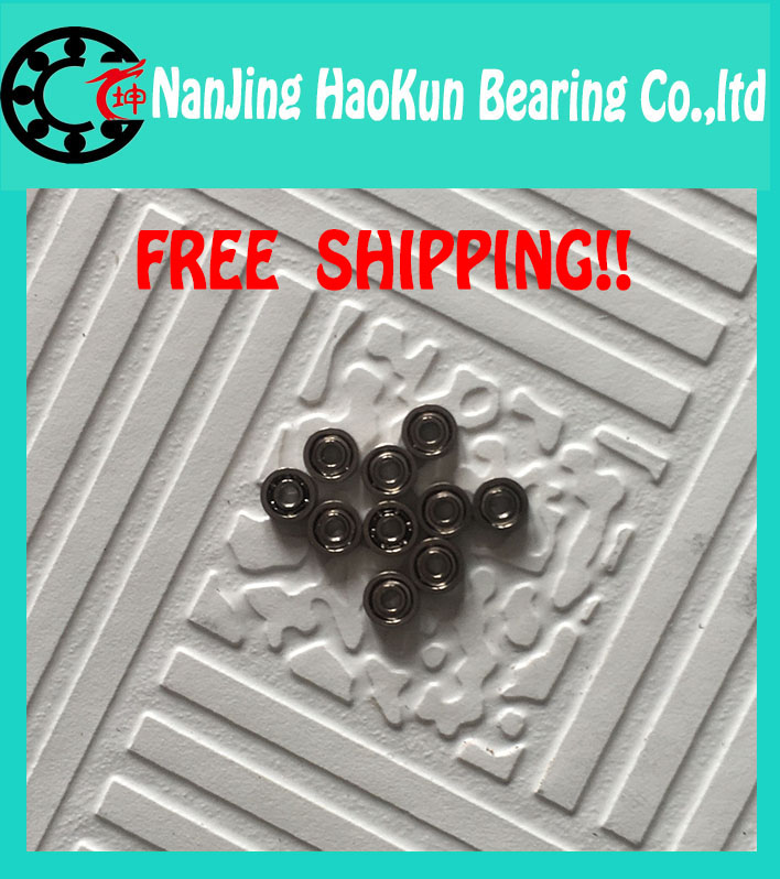 500pcs free shipping thin wall deep groove ball bearing 682XZZ 2.5*6*2.6 mm 682