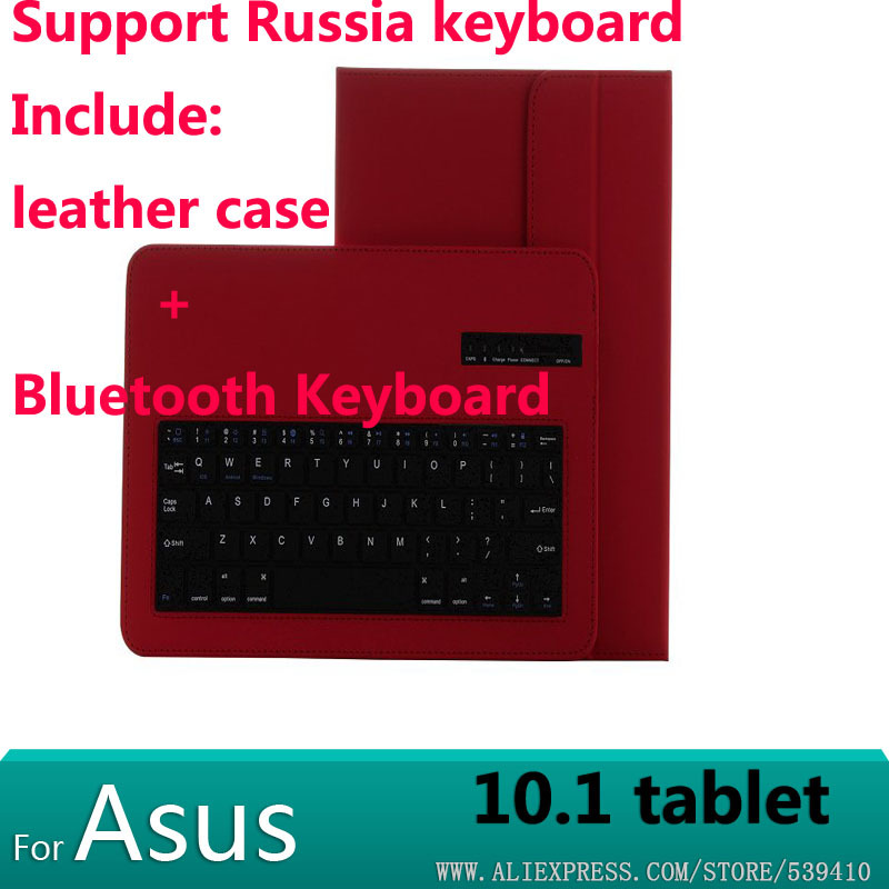 Bluetooth Keyboard With Leather Case cover For ASUS Zenpad 10 Z300C Z300CL Z300CG 10.1  tablet case support Russian keyboard us laptop keyboard for asus n56 n56v n56vm n56vz n56sl new english with c case silver