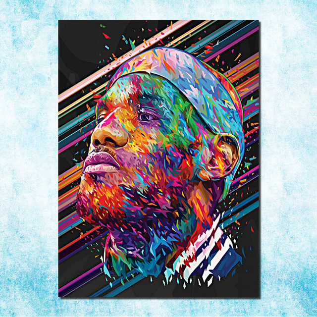 Nba Lebron James Lbj Cleveland Cavaliers 3 Art Silk Canvas Poster