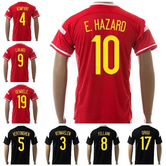premium selection b4044 52359 Belgium Soccer Jersey 2015 2016 Eden Hazard Football Shirt ...