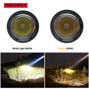 Image 5 - LED Tactical Diving Flashlight 4000Lumens CREE XHP70.2 LED Flashlight Torch Underwater 100M waterproof Linterna for Hunting