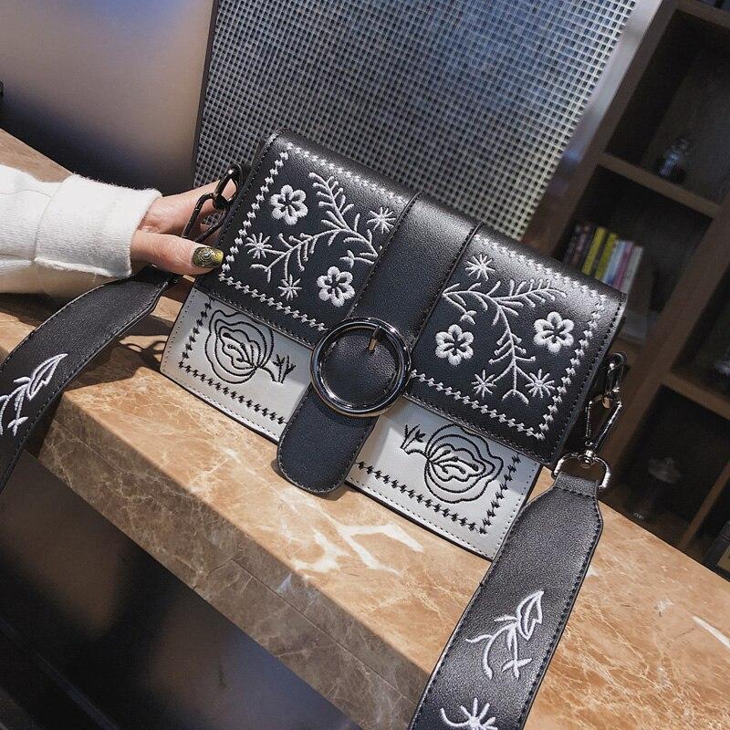 Hansomfy | Вышивка сумка Винтаж из искусственной кожи crossshoulder Повседневное знакомства Для женщин сумка - 6