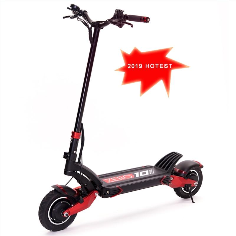 2019 plus récent scooter électrique à Double entraînement, e-scooter, Double moteur, 52 V, 2000 W, voyage adulte, tout-terrain 10 pouces, 65 km/h, scooter à deux roues