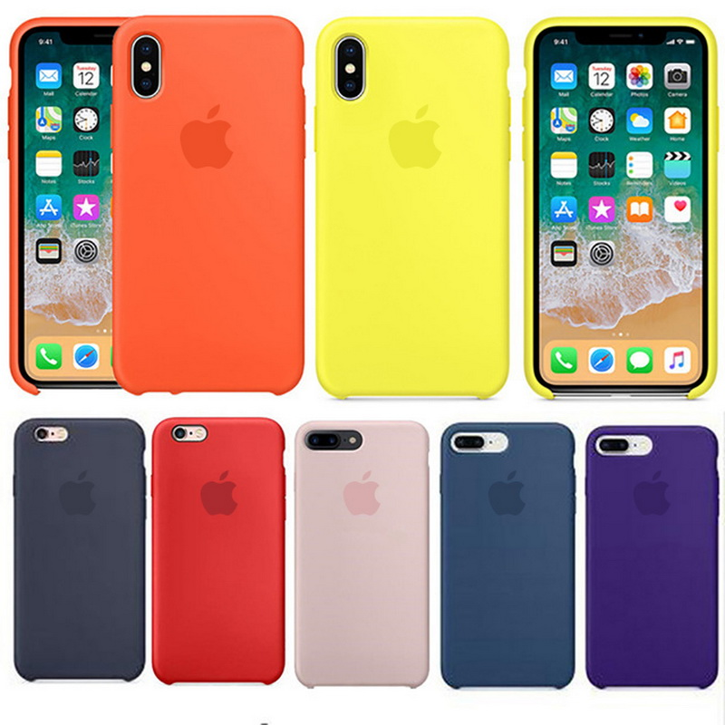 Luxury Silicone Back Cover Coque Case For iPhone X 7 8 6 S Case Phone Cover Coque For iP ...
