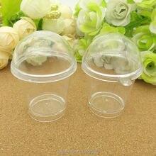 25 шт. чашки+ 25 шт. крышка прозрачные опилки чашка имитация пвх пластик стекло смешанный размер искусственный парфит чашки миниатюрные еда Deco часть