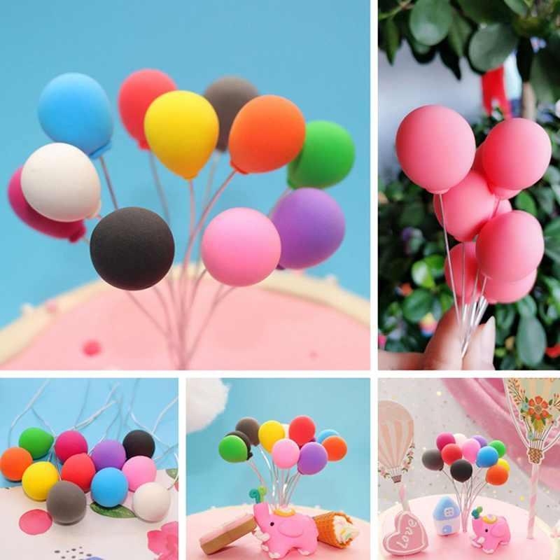 Rosa Unicórnio Branco Coleção Decoração Do Bolo Balão Bolo Topper Para Decoração de Festa de Sobremesa da Asa do Anjo Lindo