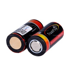4pcs100% Оригинал TrustFire 25500 Аккумулятор Li-Ion 3.7 В 4000 мАч 25500 Аккумуляторная Батарея Фонарик Факел Батареи