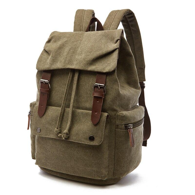 Toile cuir hommes sacs de voyage hommes sacs polochon voyage fourre-tout week-end sac à dos nuit sacs à dos d'ordinateur portable Mochilas Mujer Bookbag