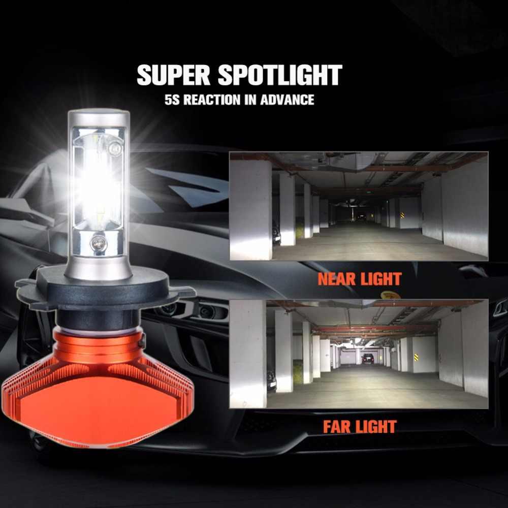 Aceersun H4 Hi Lo Car LED Headlight Bulbs 80W Fanless 12000LM 6500K CSP Led Auto Headlamp Fog Lamp Lighting Bulb 12v 24v HB2 H 4