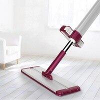 Drop Shipping Practical Household Non Hand Washing Floor Mop Soft Microfiber Dust Push Mop Telescopic Mop