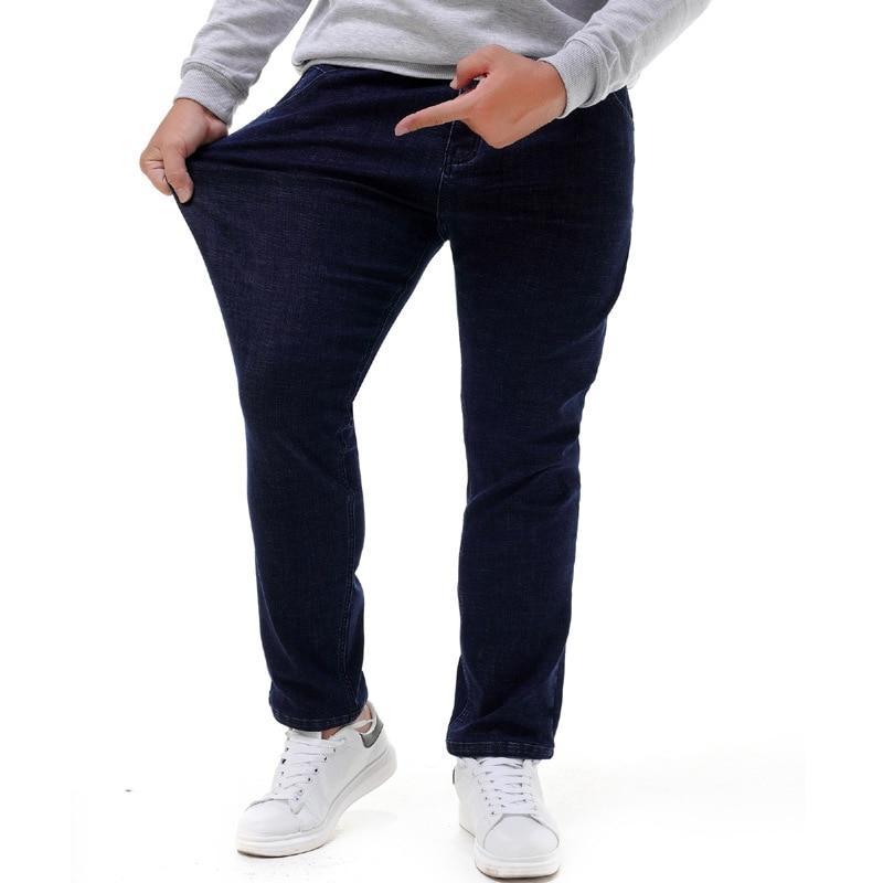прилив бренд большие размеры хl жир мужские джинсы с эластичной резинкой на талии ковбой негабаритных чистый мужской движение