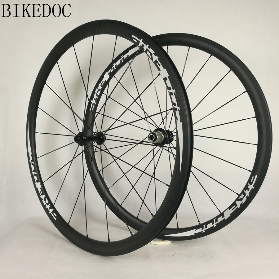 BIKEDOC 700c carbon wheels 38mm tubular and clincher roue carbone high end cycling wheels for road bike wheelset(China)