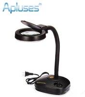 Adjustable Magnifier 36 LED Glass Lighting Table Lamp 110 220V 5x Or 10x Magnifying glass Desk lamps