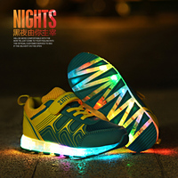 New Led Children Shoes 2018 USB Charging Basket Shoes With Light Up Kids Casual Boys&Girls Luminous Sneakers Glowing Shoe enfant