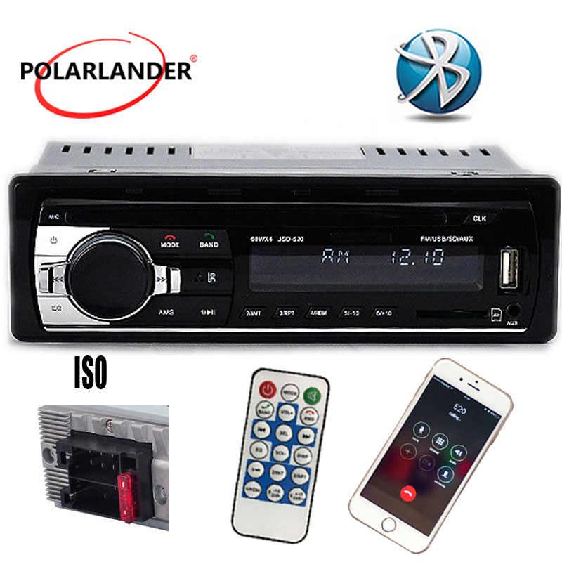 1 DIN 12V Radio FM estéreo del coche reproductor de Audio MP3 incorporado en el teléfono Bluetooth con puerto USB/SD MMC electrónica del coche en el salpicadero