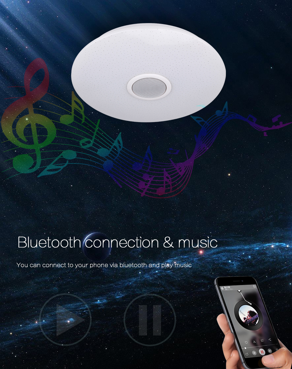 HTB1ZsFaaRCw3KVjSZFlq6AJkFXaV Modern LED Ceiling Light Bluetooth Music RGB Dimmable Lamp 36W 40W APP Remote Control AC 220V 240V Colourful Party Bedroom