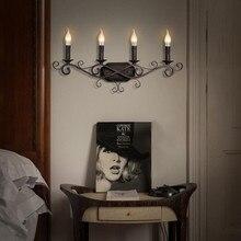 Luminaire European Candle Loft Retro Industry Led Wall Light For Hotel Restaurant Villa Cafe Hang Lamp Bedroom Lighting Fixture