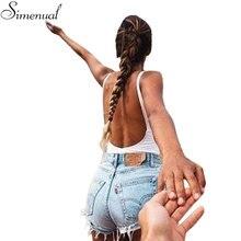 Лидер продаж 2017 г. Модные Фитнес боди женские без рукавов с открытой спиной пикантные однотонные повязки тела комбинезоны, женский комбинезон тонкий боди
