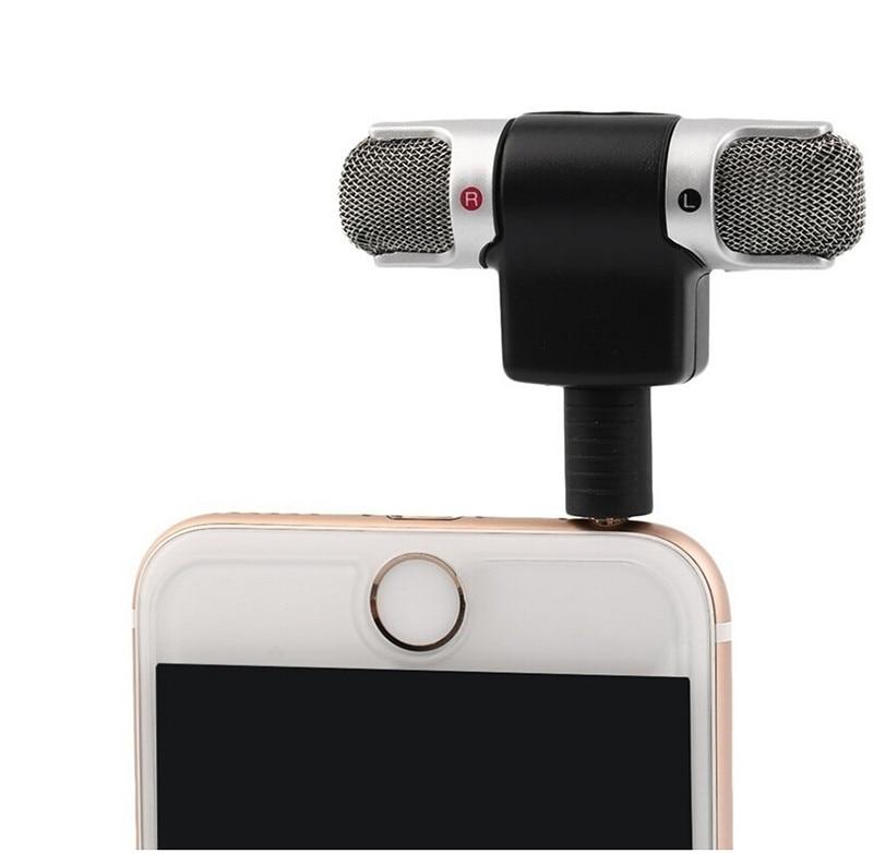 1 pc Haute Qualité Professionnel Mini Enregistreur Stéréo Voix Numérique Mic Microphone Portable Pour Smartphones PC # S