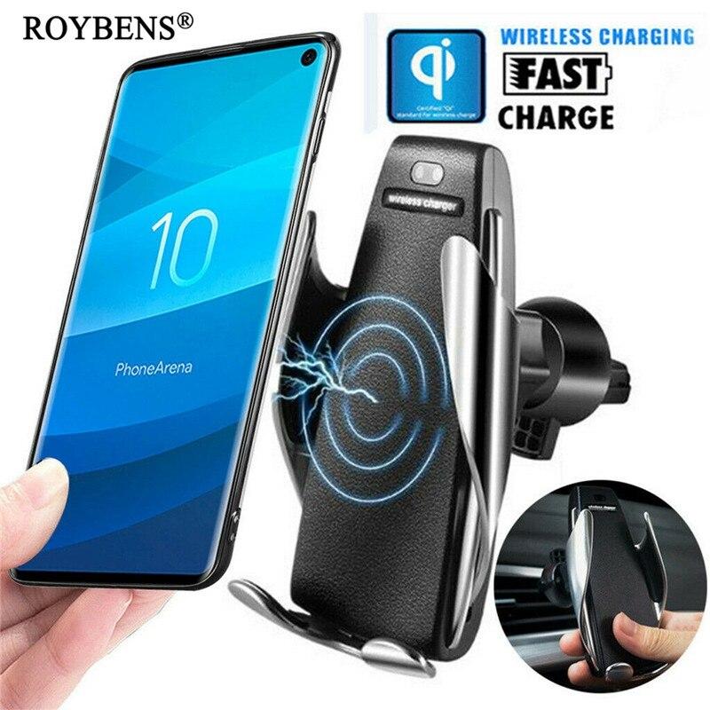 Bezprzewodowa ładowarka telefon samochodowy uchwyt na Samsunga S10 iPhone X QI szybkie ładowanie uniwersalny stojak na telefon komórkowy uchwyt do smartfona wsparcie w Uchwyty i podstawki do telefonów komórkowych od Telefony komórkowe i telekomunikacja na AliExpress - 11.11_Double 11Singles' Day 1