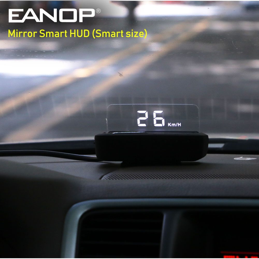 EANOP スマートミラー HUD ヘッドアップディスプレイ OBD2 スピードメーター車速度プロジェクター自動電圧監視 KMH/KPM A100S