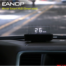 EANOP Smart Spiegel HUD Head Up Display OBD2 Tacho auto Geschwindigkeit projektor Auto Spannung Überwachung KMH/KPM A100S