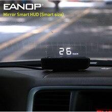 EANOP inteligentne lusterko HUD wyświetlacz Head Up OBD2 prędkościomierz wyświetlacz szybkościomierza samochodowego Auto monitorowanie napięcia KMH/KPM A100S