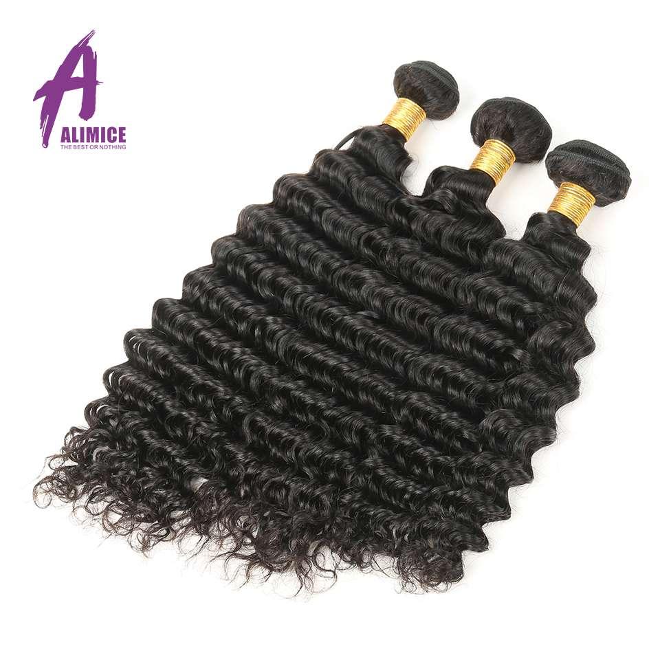Alimice las brazilski las z globokimi valovi 1/3/4 snopi 100% remi - Človeški lasje (za črne) - Fotografija 6