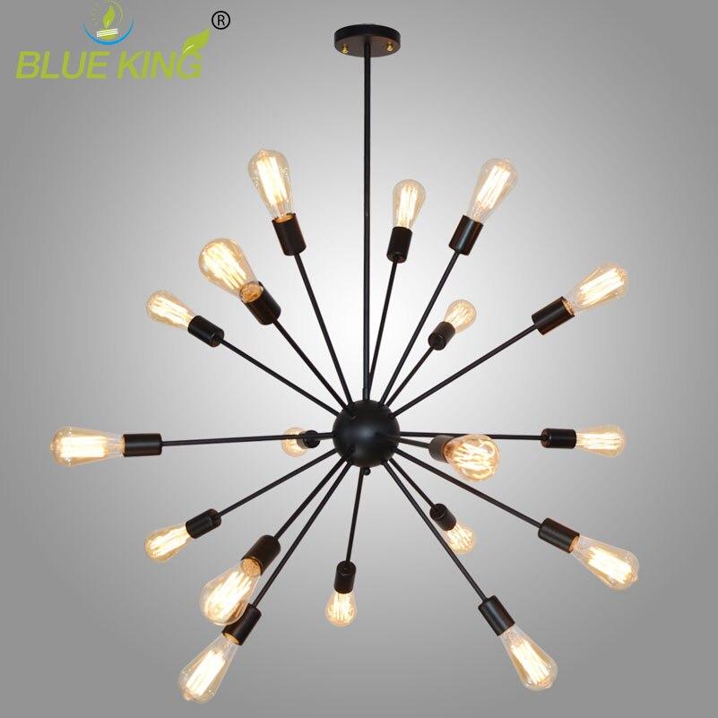 Vintage Industrial Loft iron Light Sputnik chandelier Restaurant Bar Hanging Light DIY Spider bar lights E27