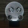 Expressão bonito LED Toque Lâmpada de Luz Da Noite 3D Acrílico 3D Luminaria Decoração Da Lâmpada de Mesa USB luminaria Decoração Moderna Lampara