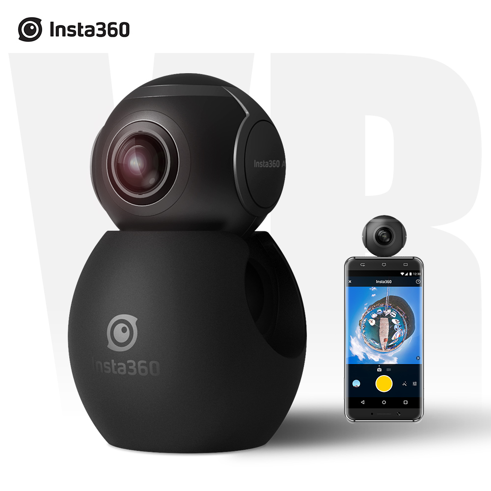 Insta360 Air 3K HD 360 Camera Dual Lens Panoramic Camera Compact Mini VR Camera For Samsung OPPO Huawei LG Andriod Smartphone magicsee 3k hd mini 360 camera live panoramic camera portable pocket vr camera dual lens camera 360 for type c micro usb phones